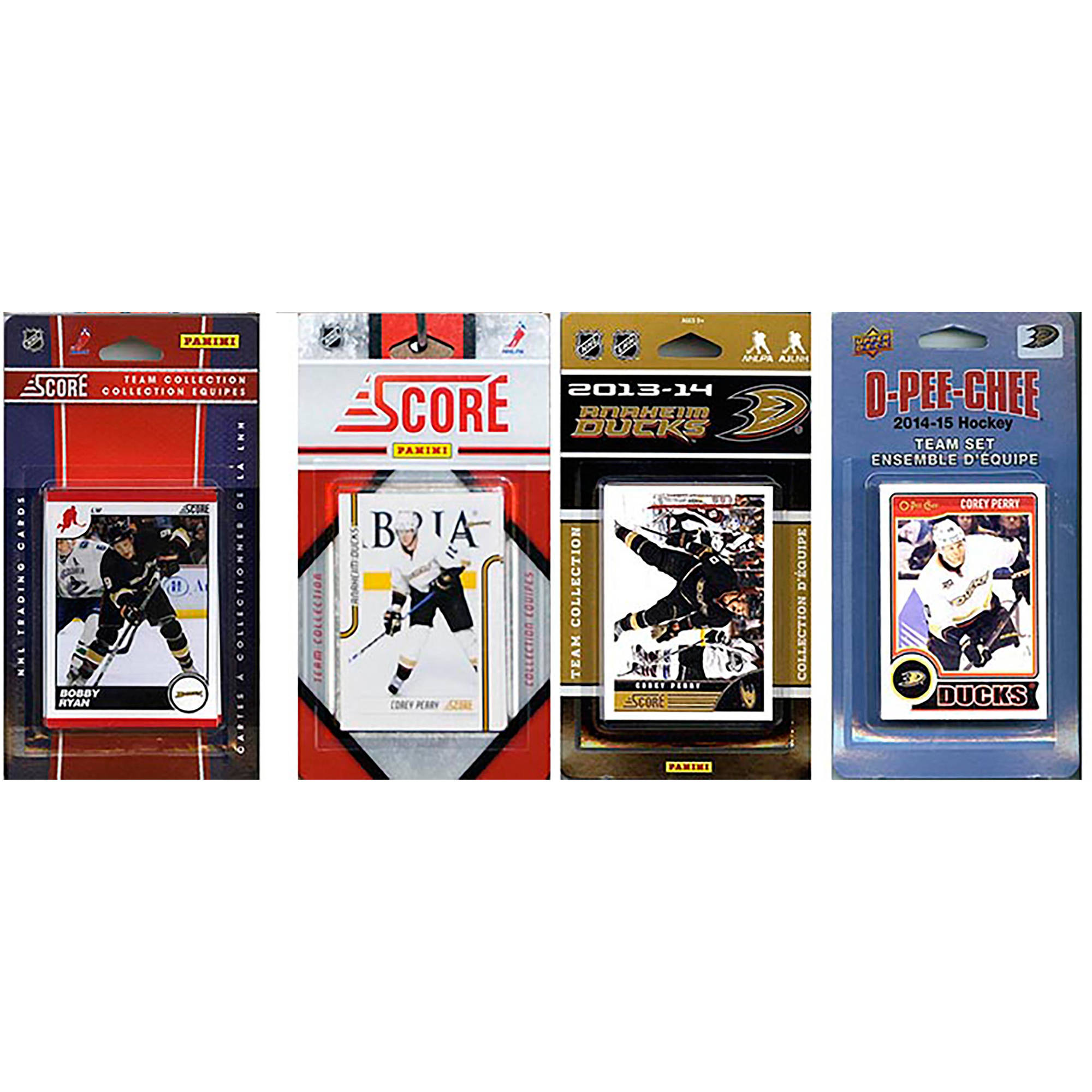 C&I Collectables NHL Anaheim Ducks 4 Different Licensed Trading Card Team Sets