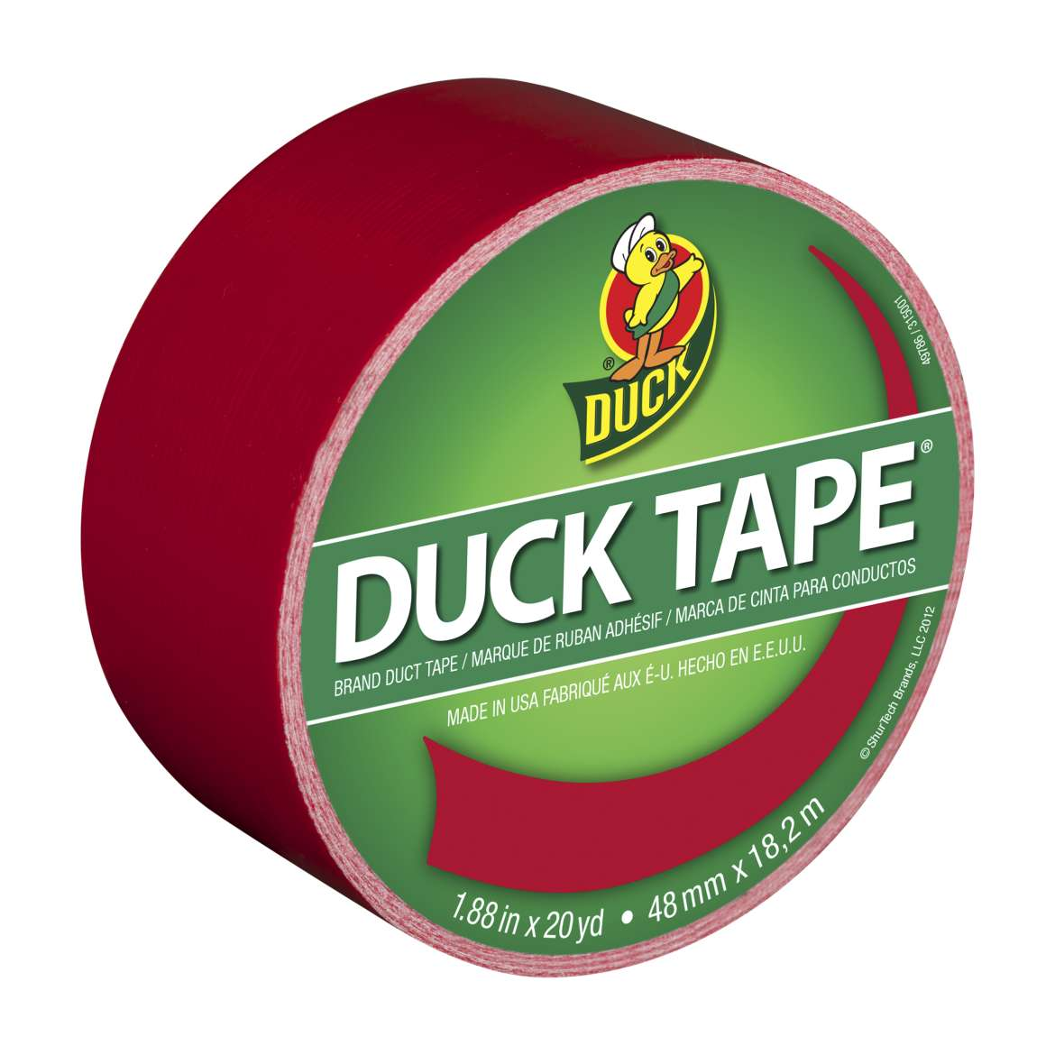 "Duck Brand 1.88"" x 20 yd Colored Duct Tape, Red"