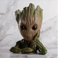 Groot Action Figures Guardians of The Galaxy Flowerpot Baby Cute Model Toy Pen Pot Best Gifts 6.3in