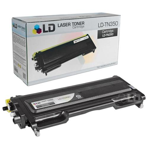 LD Brother Compatible TN350 Black Laser Toner Cartridge for use in Brother DCP, HL, Intellifax, & MFC Printers