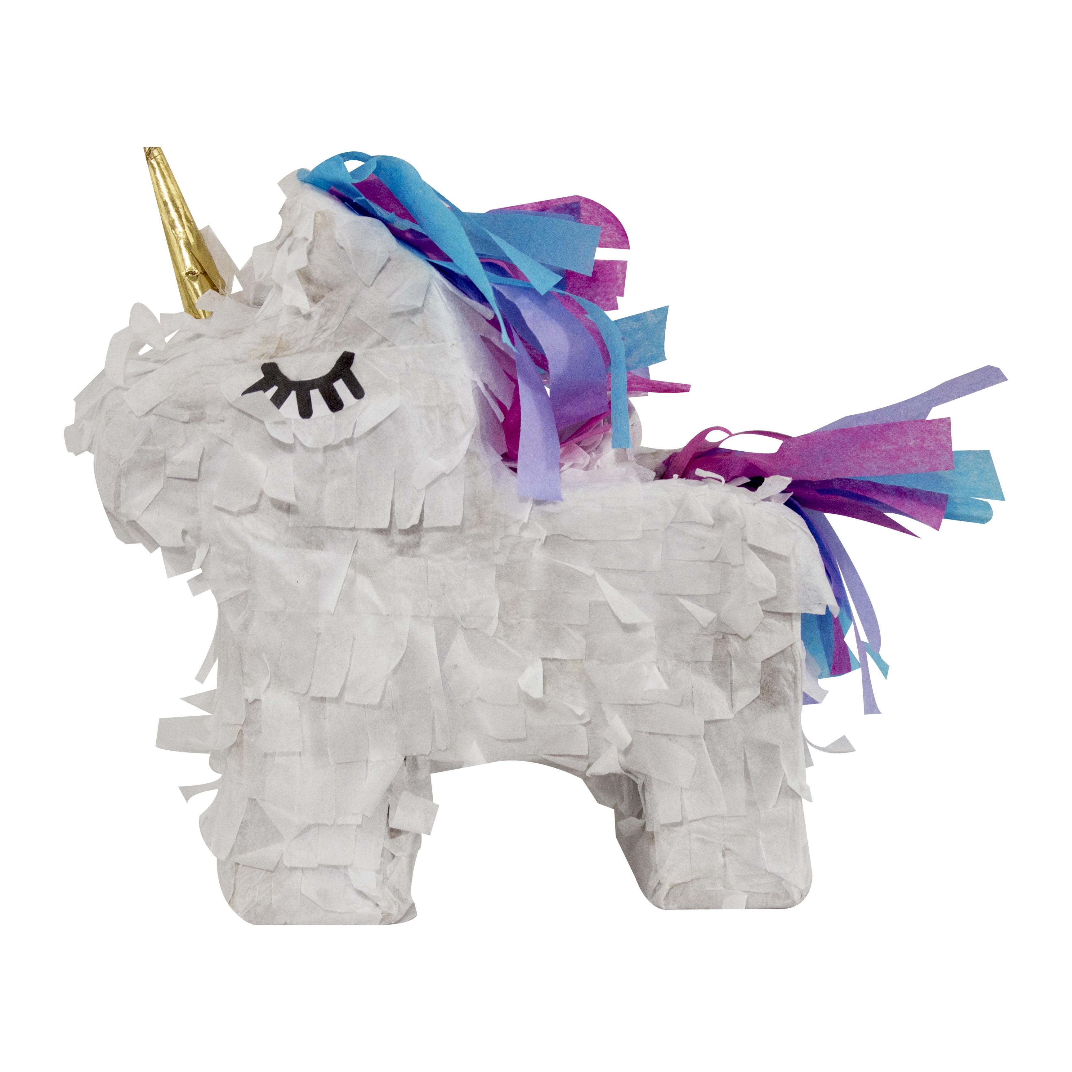 """Extra Mini Unicorn Party Pinata, 8"""" Pinata, Traditionally Handcrafted"""