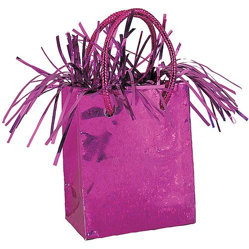 Gift Bag Shaped Balloon Weight, Hot Pink, 1ct