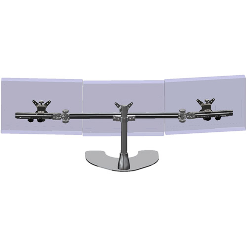 Ergotech Triple Desk Stand with Telescopic Wings Walmartcom
