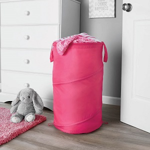 MAINSTAYS kids Spiral Pop Up Hamper, Pink