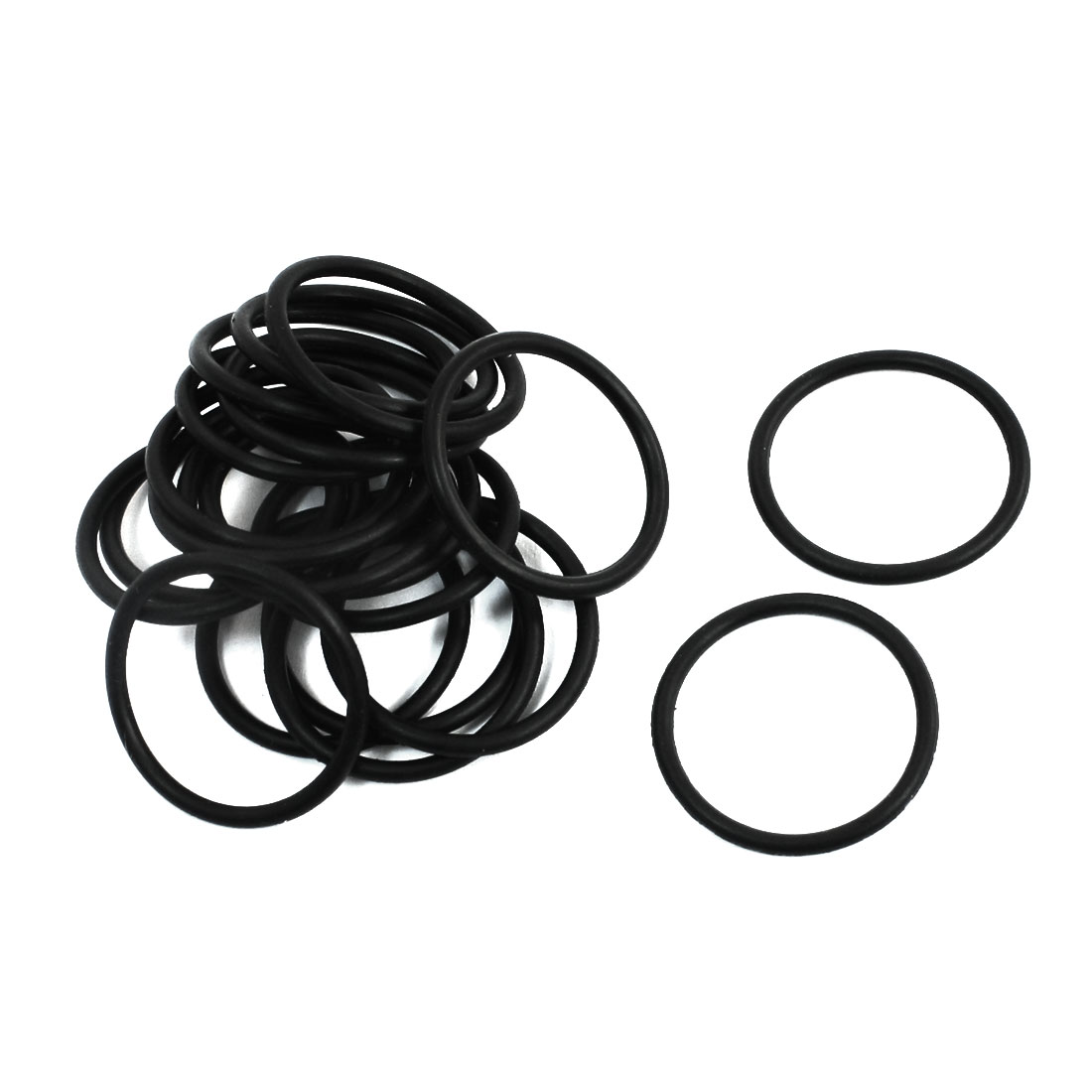 Replacement Flexible Rubber Oil Seal Filter Rings Washers 25x2mm 20Pcs