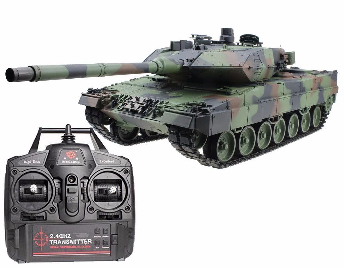 2.4Ghz Radio Control 1 16 German Leopard 2A6 Air Soft RC Battle Tank Smoke & Sound by