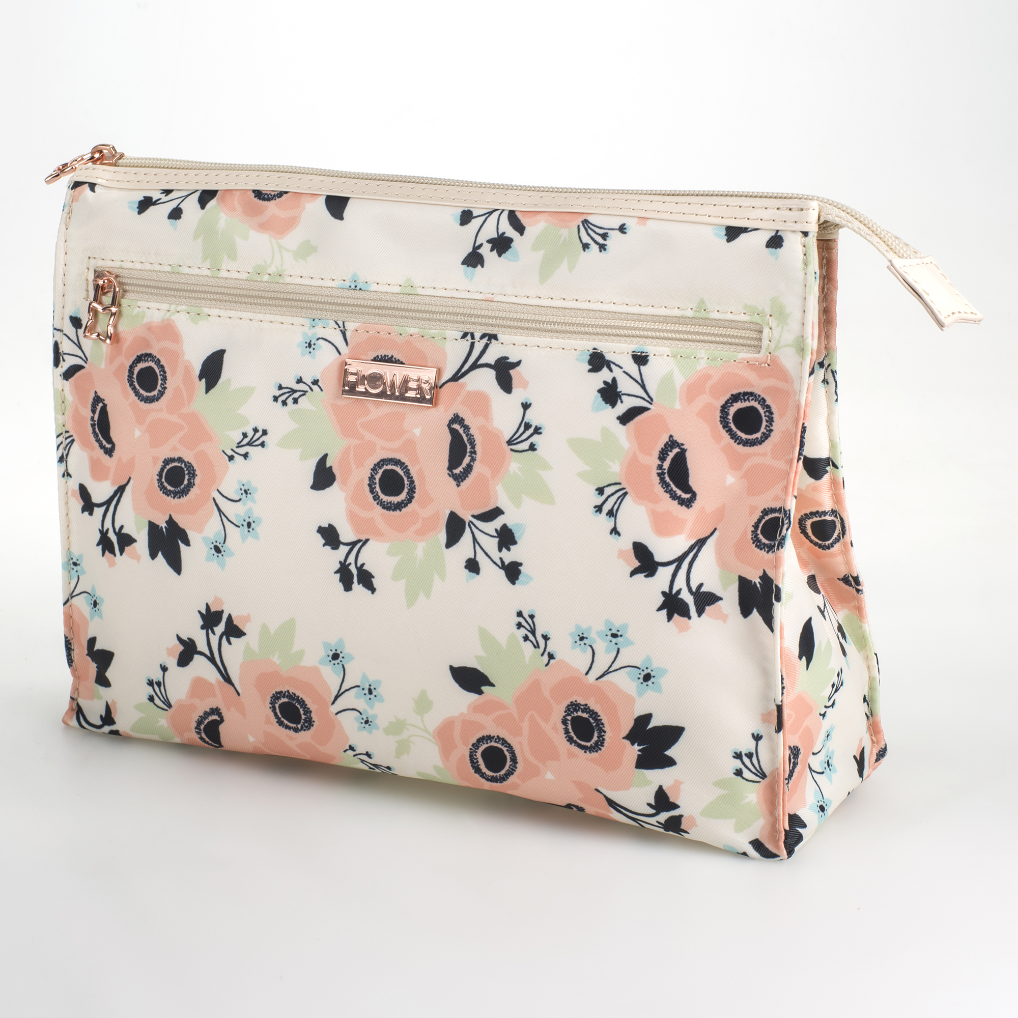 Flower Cosmetics In Bloom Cosmetic Zip Pouch