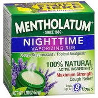 Mentholatum Nighttime Vaporizing Rub, 1.76 Oz