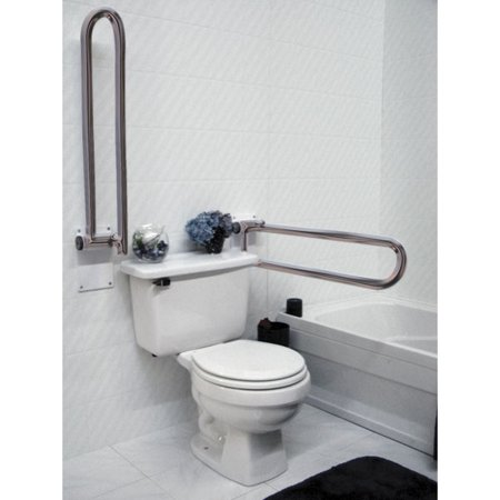 1 -Left Side Only HealthCraft P.T. Rail, Hinged, 28 inch, Stainless Steel Healthcraft Grab Bar