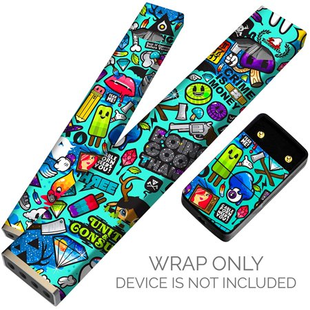Original Skin Decal for PAX JUUL (Wrap Only, Device Is Not Included) -  Protective Sticker (Stickerbomb blue)