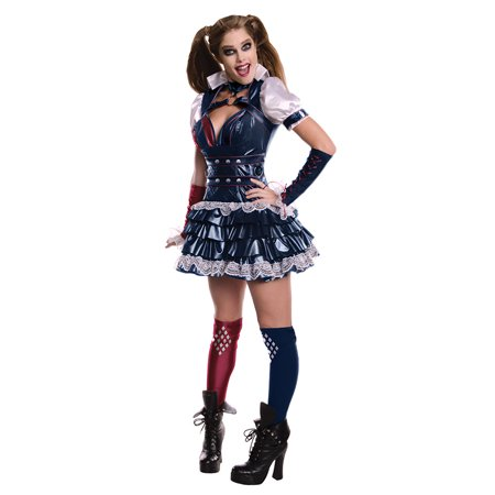 Secret Wishes Harley Quinn Women's Adult Halloween Costume, Medium (Harley Quinn Cosplay Diy)