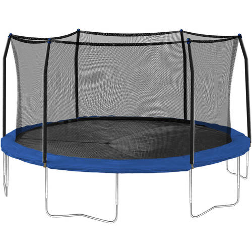 Skywalker Trampolines 16-Foot Trampoline, with Safety Enclosure, Blue