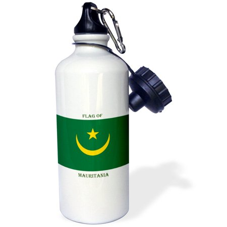 3dRose Flag of Mauritania, Sports Water Bottle, 21oz