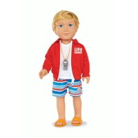 "My Life As 18"" Poseable Lifeguard Boy Doll, Blonde or African American"