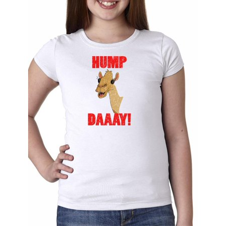 98775aeed Hump Day! Wednesday Camel - Yay! Girl s Cotton Youth T-Shirt - Walmart.com