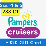 [Save $20] Size 4 & Size 5 Pampers Cruisers Diapers, 288 Total Diapers