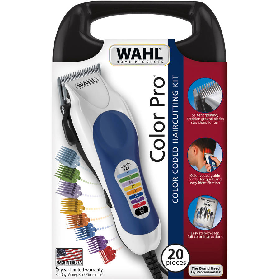 WAHL Corded Color Pro 20-Piece Color Coded Haircut Kit, Model 79300-400W