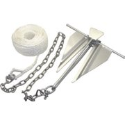 Shoreline Marine 10 lb Slip-Ring Steel Anchor with Chain & Rope