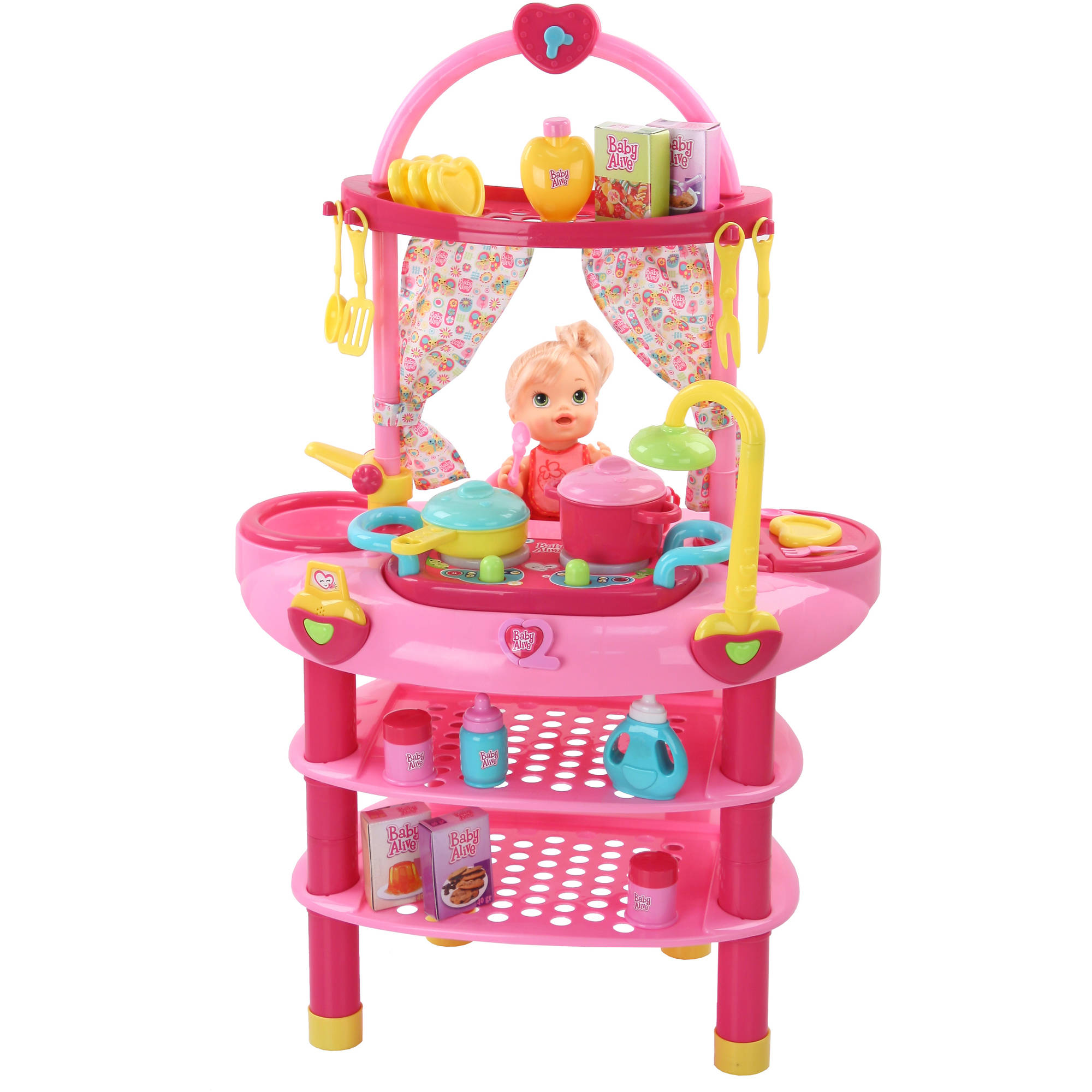 baby alive doll 3 in 1 cook n care set walmart