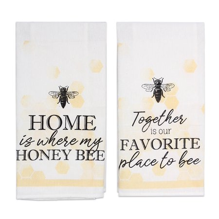 Together is Favorite Place Home is Where my Honey Bee Kitchen Tea Towel Set of -