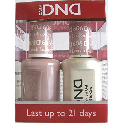 DND Nail Polish Gel & Matching Lacquer Set (606 - London (Best Polish Restaurant London)