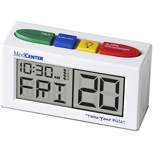 MedCenter 4 Alarm Talking reminder clock