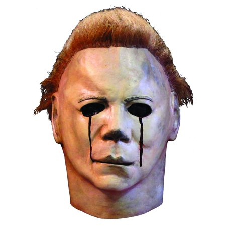 Halloween II Michael Adult Blood Tears Mask Halloween Costume Accessory (Michael Myers Movie Mask)