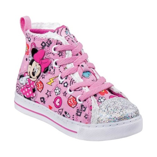 Girls' Josmo O-CH17283 Minnie Mouse High Top Canvas Sneaker by Disney