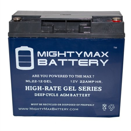 - 12V 22AH GEL Replacement Battery for ATD Tools 5928 Power On The Go