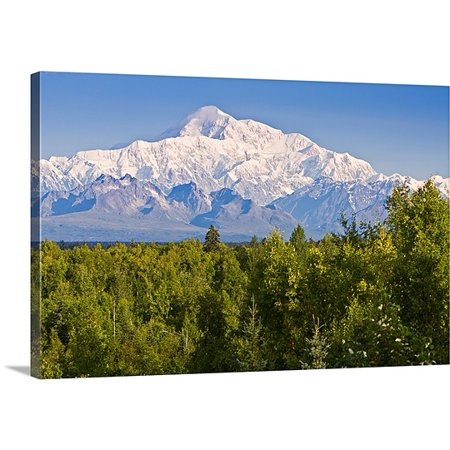 Great Big Canvas Premium Thick Wrap Canvas Entitled Southside View Of Mt  Mckinley Summer  Southcentral  Alaska