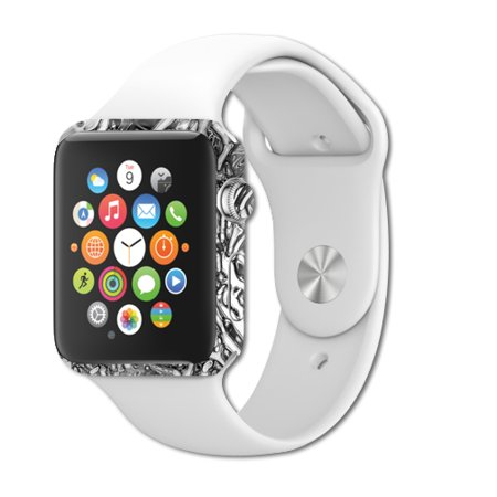 MightySkins Protective Vinyl Skin Decal for Apple Watch Series 1 38mm iWatch cover wrap sticker skins Chrome Water