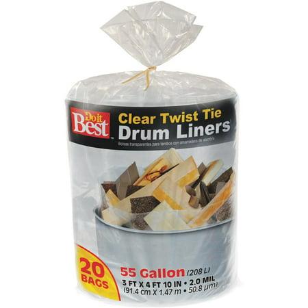 Presto Products 20ct 55 Gallon Cl Drum Liner 647896