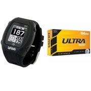 Golf Buddy WT3 Enhanced Golf GPS/Rangefinder Watch (Black) w/ Ultra 500 Inonomer Distance Golf Balls (15-Pack)