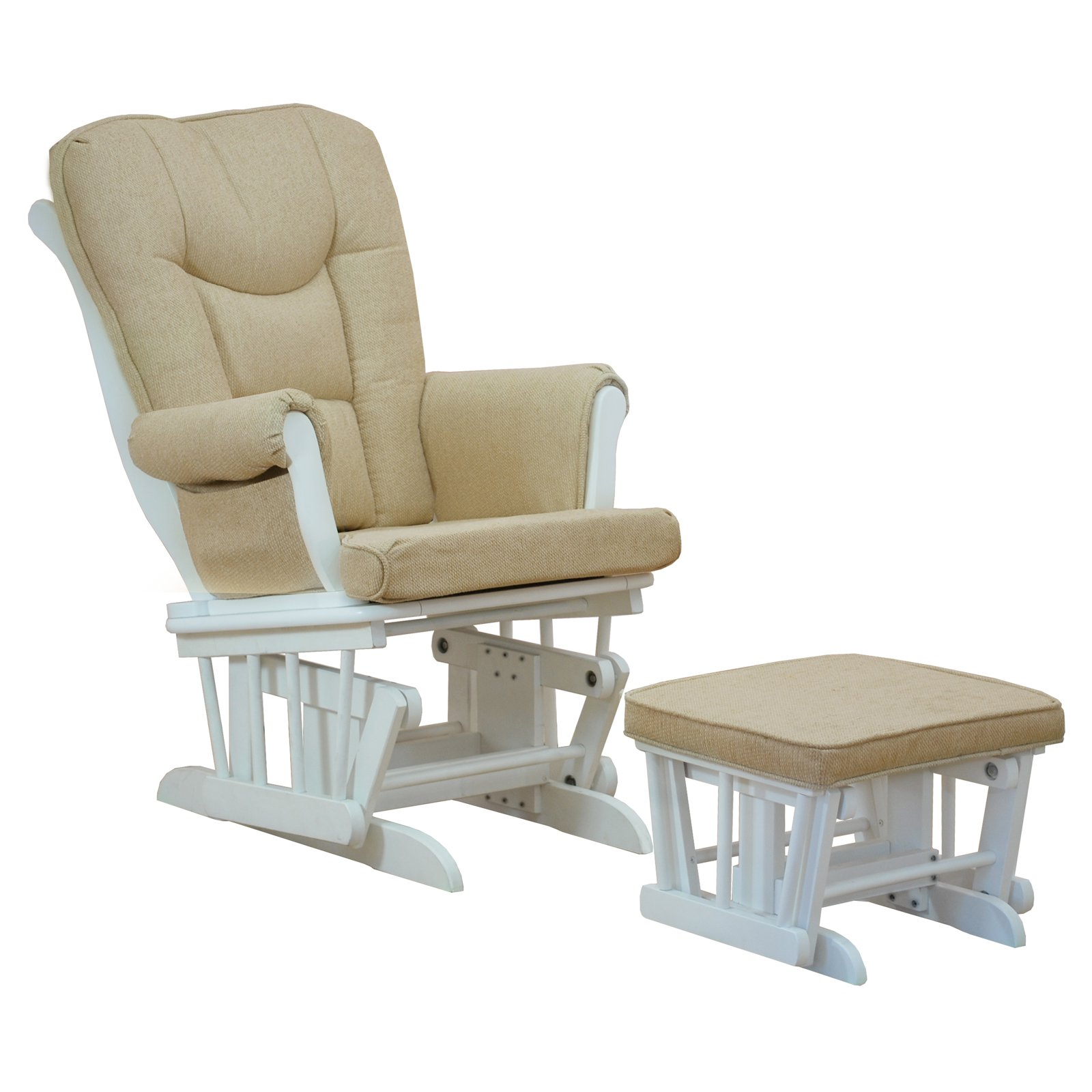 Athena Sleigh Glider Chair with Ottoman