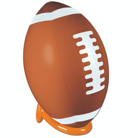 39  Brown  White And Orange Inflatable Football And Tee Superbowl Party Decoration