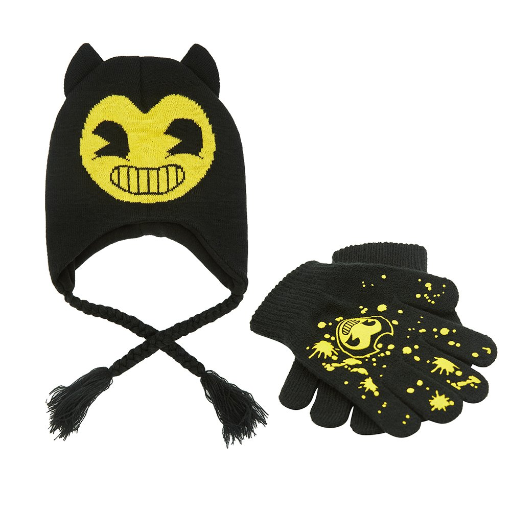 Bendy Cold Weather Set Bendy Beanie and Gloves Set Bendy and the Ink Machine Beanie