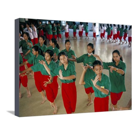 Students in Dramatic Arts College on Dance Course, Bangkok, Thailand, Southeast Asia Stretched Canvas Print Wall Art By Bruno