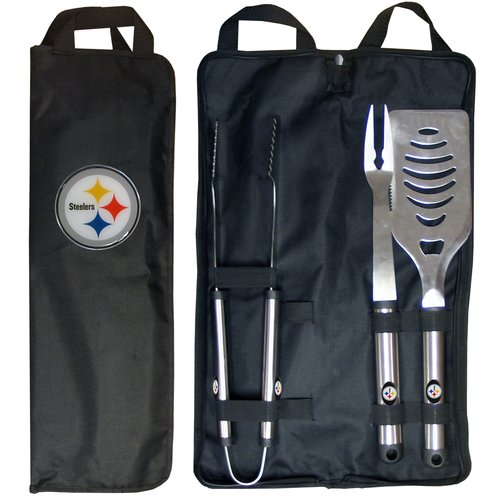 NFL 3-Piece BBQ Set with Canvas Case, Pittsburgh Steelers
