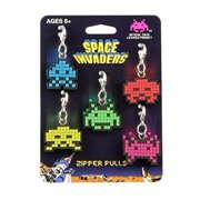 Space Invaders Aliens Zipper Pulls Unique Video Game Accessories | 5-Piece Set