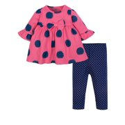 dress leggings 2 piece outfit set baby girls