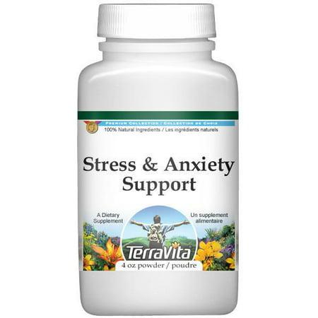 Le stress et le soutien de l'anxiété en poudre - Valériane, passiflore et Houblon (4 oz, ZIN: 518245)