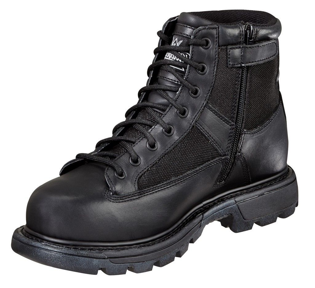 Thorogood Work Boots Mens Zip Waterproof Military Black 834-6991
