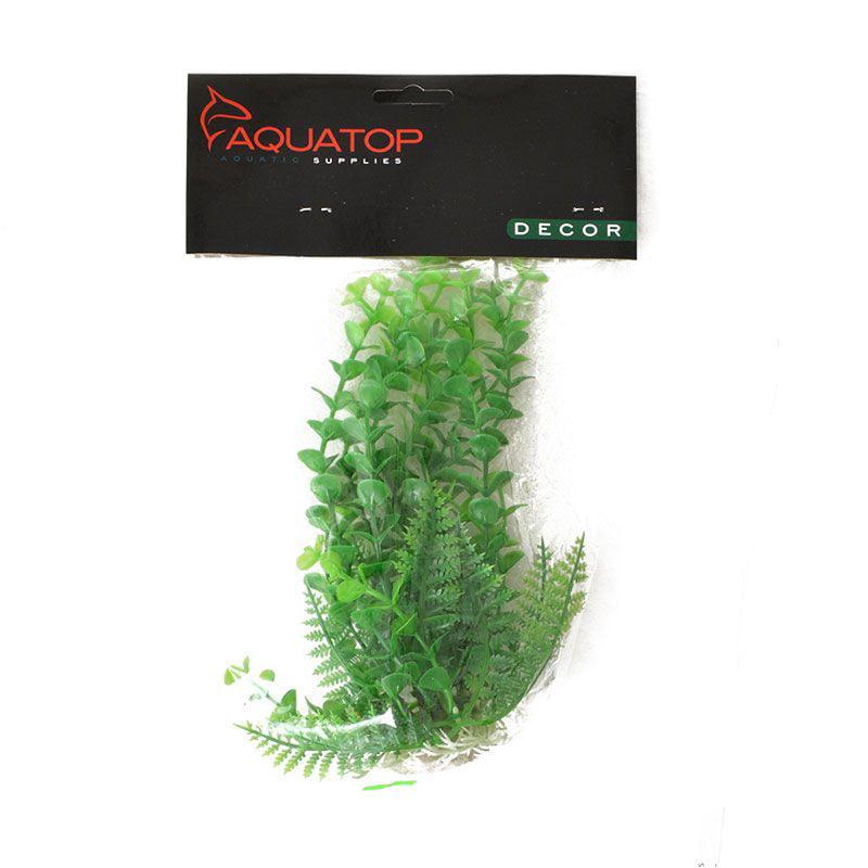 Aquatop Elodea Aquarium Plant - Green 6 High w/ Weighted Base - Pack of 4