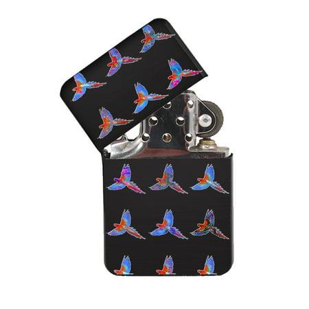 KuzmarK Black Windproof Flip Top Lighter -  Parrot Key West