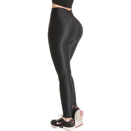 Rose Waistband - Butt Lifter Leggings High Rise Waist Levanta Cola Internal Powernet Girdle Colombianos Sports Yoga Gym Fitness Black 400BB