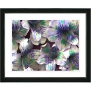 Studio Works Modern ''Spring Flowers - Purple'' by Zhee Singer Framed Painting Print