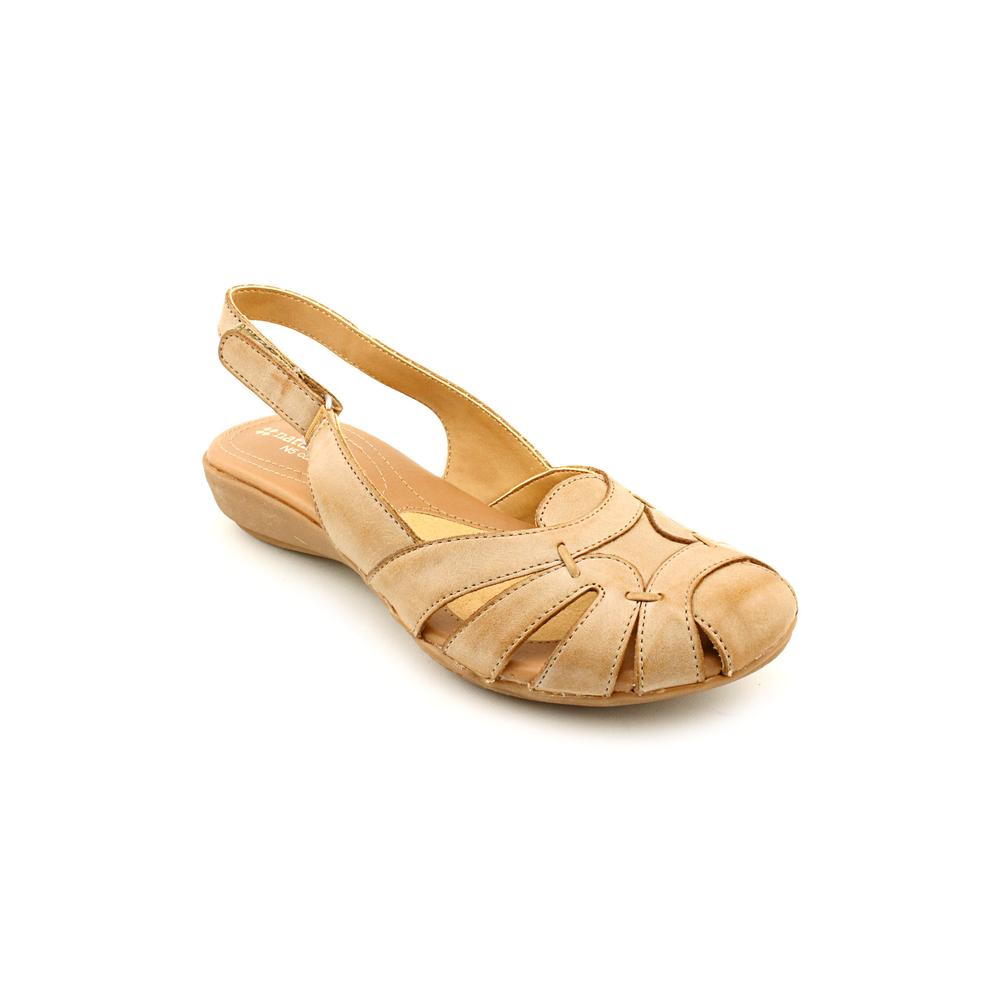 Naturalizer Cyrus Women N S Round Toe Leather Tan Slingback Sandal by Naturalizer