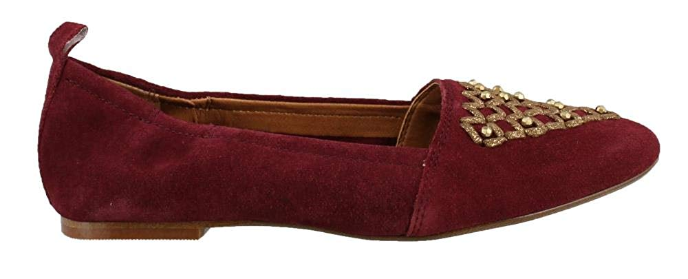 Latigo Womens Unity Leather Pointed Toe Espadrille Flats