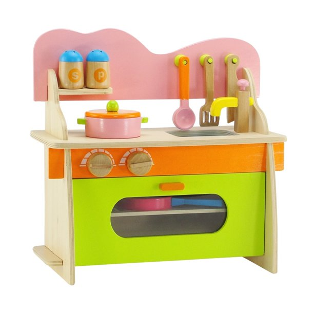 18 Inch Doll Kitchen Set With Oven Stove Sink And Accessories Fits 18 American Girl And My Life As Dolls Walmart Com Walmart Com