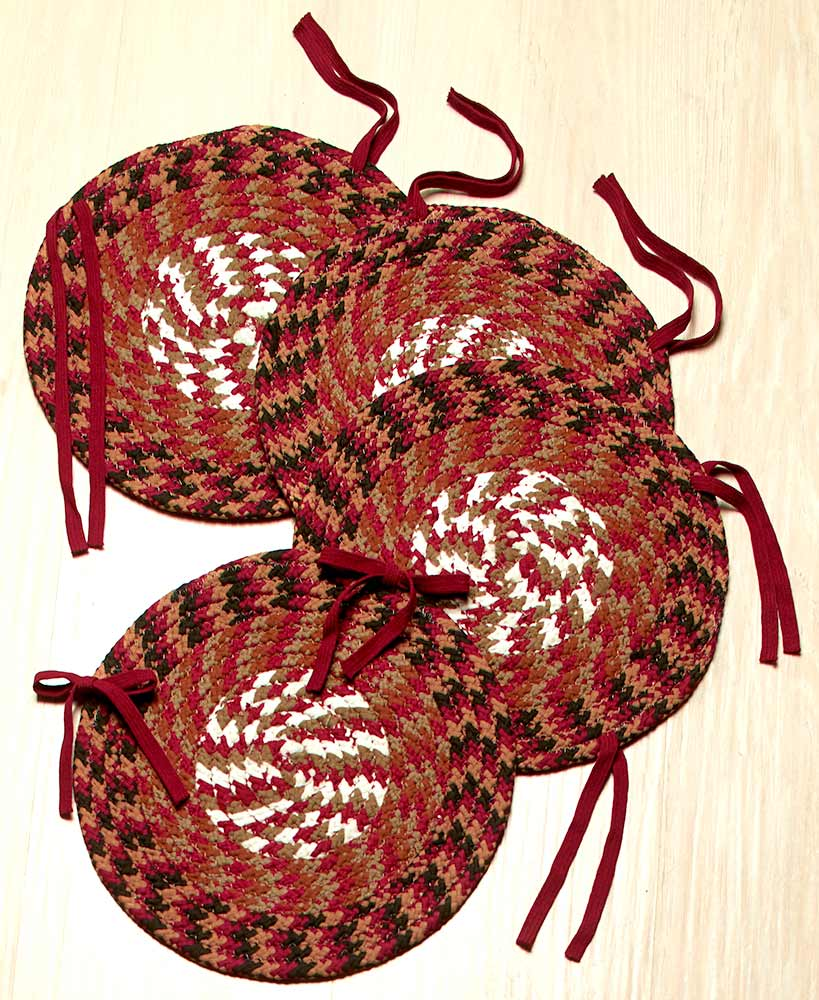 4-Pc. Braided Chair Pad Set by